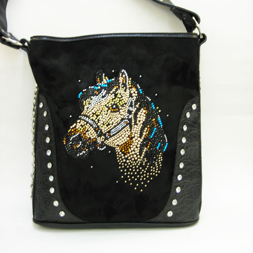 Purse Rhinestone With Horse Motiff