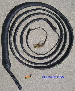 Bullwhip 12 Plait Black Snake 6 Foot (second)