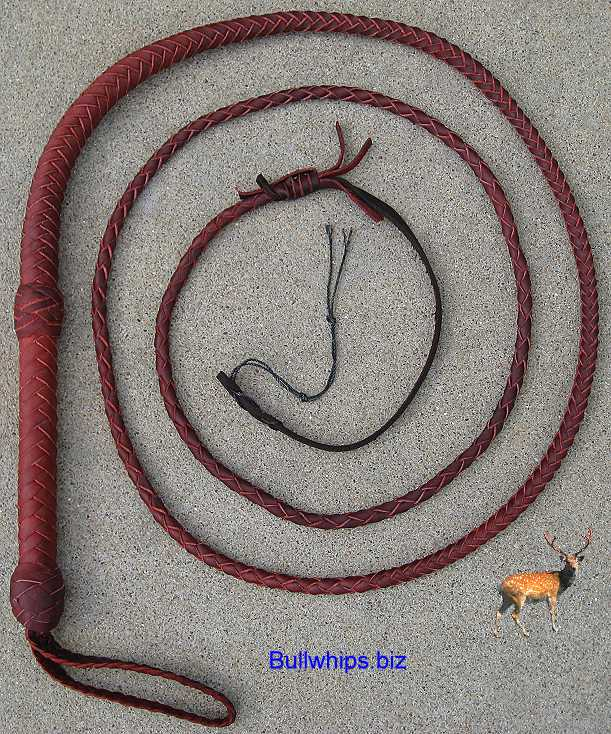 Bullwhip 8 Plait Red End Loop Indy